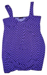 Tempted Hearts Camisole Loose Gathered Top Purple, Black