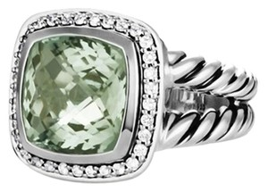 David Yurman Prasiolite and diamond Ring 11MM