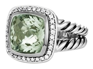 David Yurman 11mm Albion Ring with Prasiolite and Diamonds