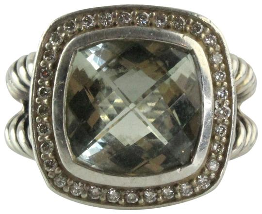 David Yurman 11mm Albion Ring with Prasiolite and Diamonds Image 1