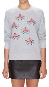Better Society Multi-colour Jewels Grey Studded Sweater