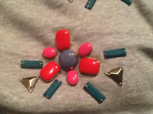 Better Society Multi-colour Jewels Studded Sweater