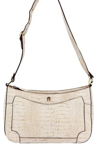 Etienne Aigner Vintage Crocodile Embossed Leather Tetured Shoulder Bag