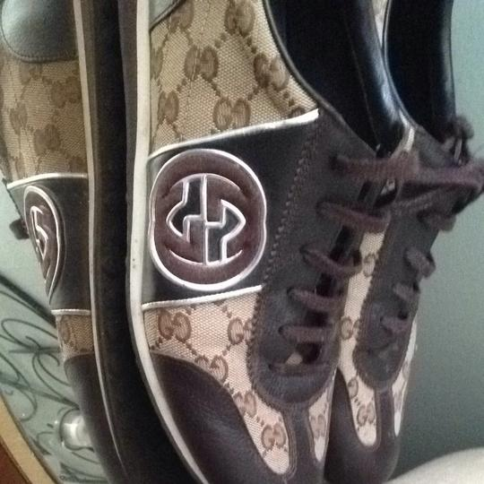 Gucci Brown / Leather Trim Formal