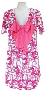 Other short dress pink, white Tunic Back Bow on Tradesy