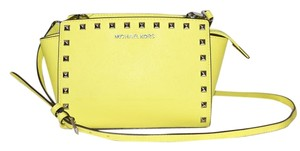 Michael Kors Selma Studded Satchel in CANARY Yellow