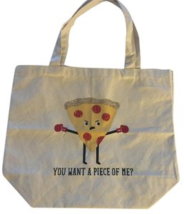 Shoulder Miscellaneous Tote in Beige Red Yellow