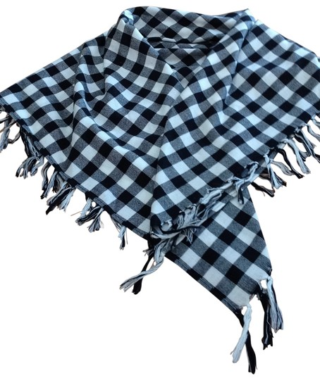 Red Engine Great Check Cotton Scarf With Fringe