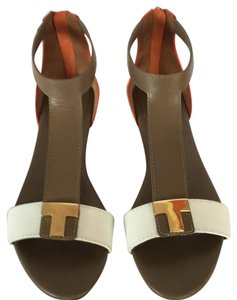Tory Burch Blood orange/clay/bleach Sandals