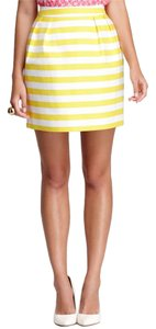 Kate Spade Striped Mini Skirt Yellow