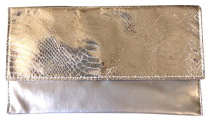 Saks Fifth Avenue Silver Clutch