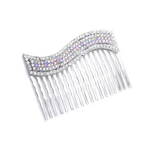 Dazzling Iridescent Ab Vintage Wavy Wedding Bridal Special Occasion Hair Comb