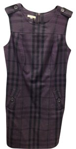 Burberry short dress Purple and black Wool Jumper Chic on Tradesy