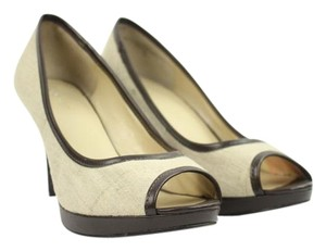 Nine West Brown Beige Pumps