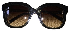 Louis Vuitton Louis Vuitton Audrey Green Glitter Sunglasses Gold Accent Arms Square Z0767W