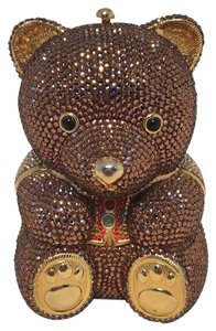 Judith Leiber Teddy Bear Minaudiere brown Clutch