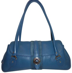 Cole Haan Refurbished Leather Suede Satchel in Blue