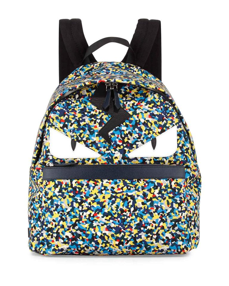 933ca69d99eb Fendi Monster Eyes Bug Buggie Accent Multicolor Nylon   Leather Backpack -  Tradesy