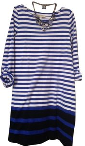 Jones New York short dress Blue and white stripes Nautical on Tradesy