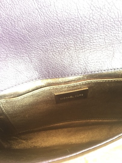 Michael Kors Gia Gia Gia Crossbody Crossbody Cute Medium Optional Strap Leather Lockable Lock And Key Pinch Lock Rare Marc & Purple/eggplant Clutch