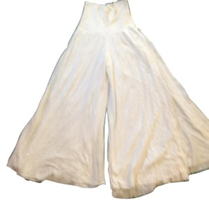 Lux Wide Leg Pants White
