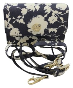 Tory Burch Burch Floral Blue Penny Lane Cross Body Bag