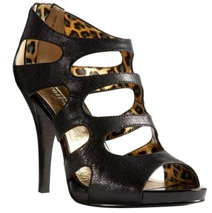 Bisou Bisou Pump Zipper Black with Leopard Sandals