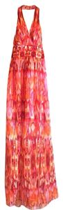 Pink Maxi Dress by Laundry by Shelli Segal Ikat Maxi Orange Halter