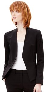 Theory Stretchy Colar-less Italian Satin-lined Black Blazer