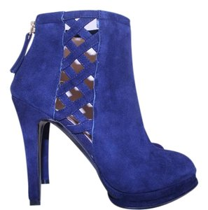 Nine West Suede Royal Blue navy Boots
