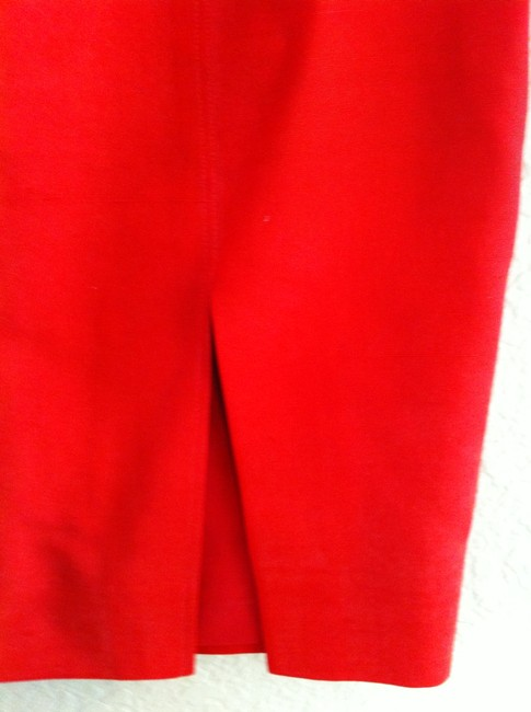 Dana Buchman Silk Straight Skirt Red