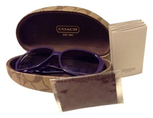 faa50e10ba Coach NIB Coach Melissa 5125 Violet Black Sunglasses with Coach case  Coach  wipe