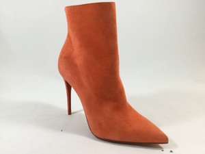 Christian Louboutin Sokate Suede Orange Boots