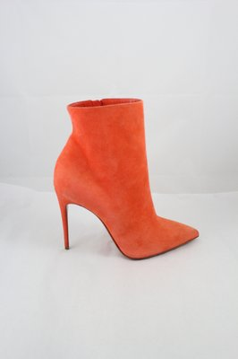 christian louboutin pointed-toe suede booties