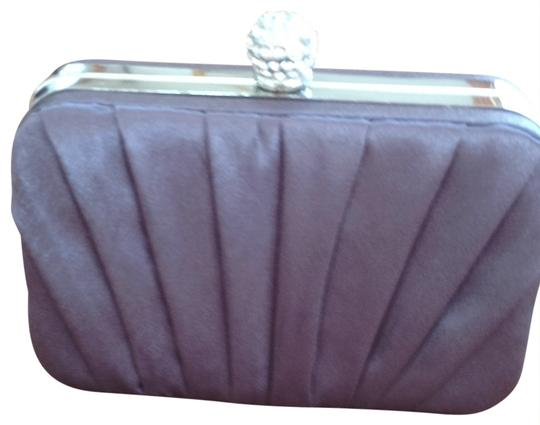 Lulu Townsend grey and silver Clutch