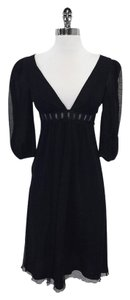 Catherine Malandrino short dress Black 3/4 Sleeve Mesh on Tradesy