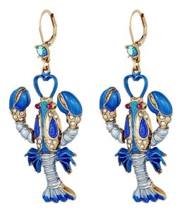 Betsey Johnson Betsey Johnson Into The Blue Large Lobster Drop Earrings NWT $45