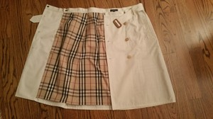 Burberry Classic A-line Skirt Off White
