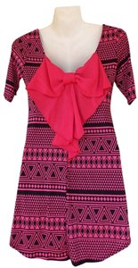 Other short dress pink, black Hot Bow Aztec Tunic on Tradesy