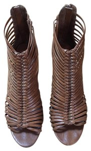 Jeffrey Campbell Strappy Bootie Open Toe Brown Boots