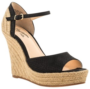 Seychelles Wedge Black Wedges