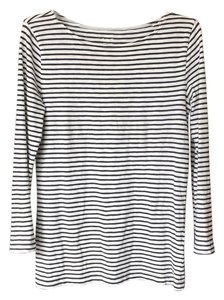 J.Crew T Shirt Grey and white