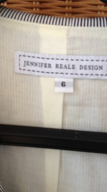 Jennifer reale Designer Jacket Top blue and white