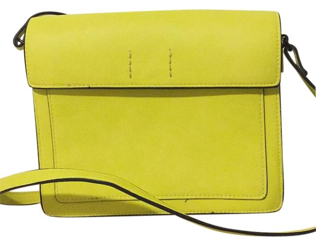 Item - Yellow Faux Leather Messenger Bag