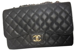 Chanel Jumbo Caviar Flap Shoulder Bag