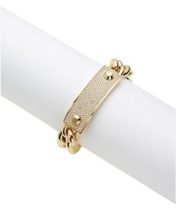 Michael Kors Michael Kors Gold Pave Crystal Plaque Toggle Chain Bracelet