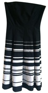 White House | Black Market Striped Strapless Dress