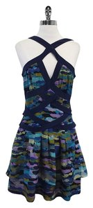 W118 by Walter Baker short dress Navy Criss Cross Strap on Tradesy