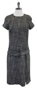 Zenobia Black & White Wool Blend Tweed Dress