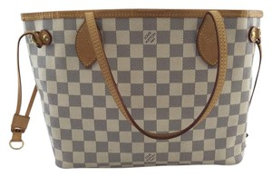 Louis Vuitton Neverfull Pm Tote in Damier Azure